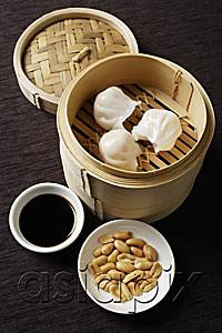 AsiaPix - still life of dim sum with bamboo steamer