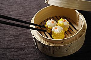 AsiaPix - bamboo steamer with dimsum