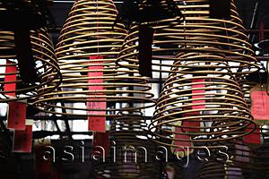Asia Images Group - incense coils hanging from ceiling. Man Mo Temple, Hong Kong