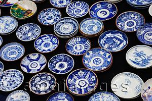 Asia Images Group - Pottery Display at the Oedo Monthly Antique Market at the Tokyo International Forum Building, Japan, Yurakucho,