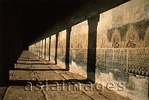 Asia Images Group - Cambodia, Siem Reap, Hallway in Temples of Angkor