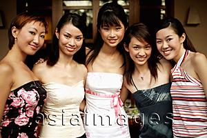 Asia Images Group - Group of young women, smiling for camera
