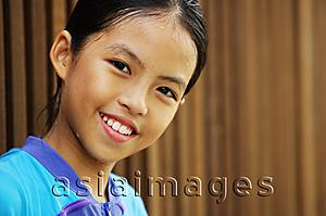Asia Images Group - Portrait of a young girl, looking at camera