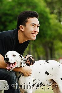 Asia Images Group - Man with Dalmatian