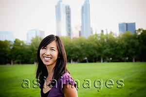 Asia Images Group - Woman smiling in park