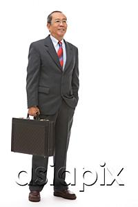 AsiaPix - Businessman standing with briefcase